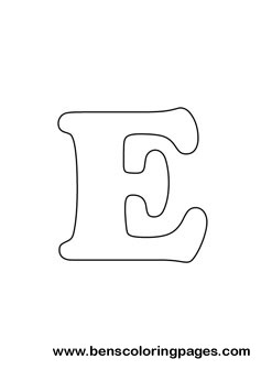 letter E drawing