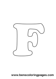 Free Letter F Coloring Page