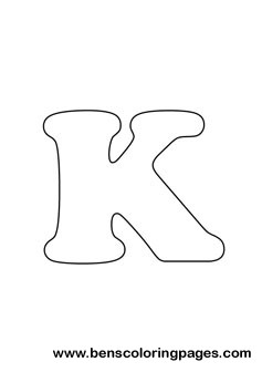 Free Letter K Coloring Page - Letter-k-coloring-page