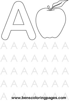 Worksheets Preschool Letter A letter a preschool coloring pages page