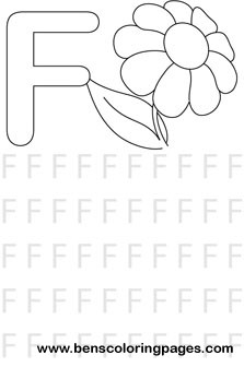 letter f preschool coloring pages