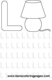 letter L alphabet coloring book