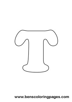 free letter t drawing - Letter T Coloring Pages