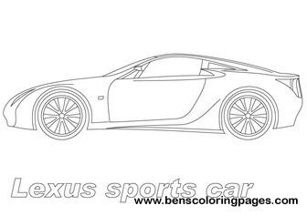 Lexus Car Coloring Pages Coloring