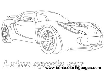 Coloring Sheets On Lotus Sport Cars Pages