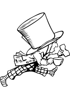 Mad hatter drawing picture