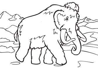 Big Mammoth drawing picture