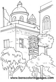 mediterranean streets printable coloring pages