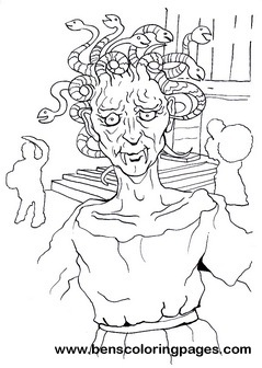 Pin Madusa Coloring Page On Pinterest