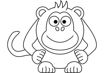 Little Monkey drawing picture