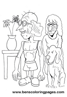 monster family coloring pages