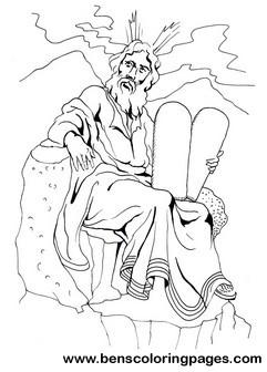 Moses Ten Commandments Coloring Page Ten Commandments Coloring Pages