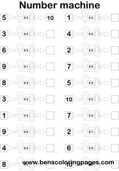 multiplication number machine printout