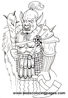 Orc Coloring Pages For Kids