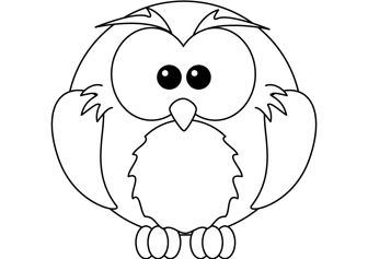 Baby Owl Printable Coloring Pages