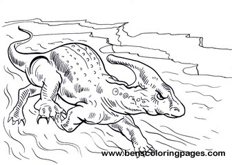 parasaurolophus free coloring page