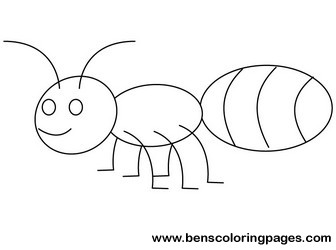 ant coloring page cartoon ant pictures - Ant Coloring Page