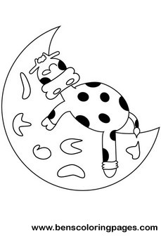 moon cow coloring picture