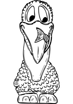 Pelican kids coloring pages