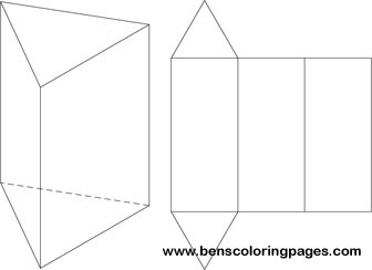 net of a triangular prism handout