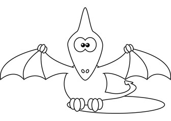 Pterodactyl Coloring Pages Eume