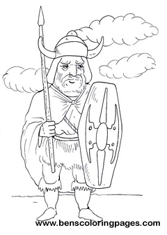 Punic warrior children coloring pages