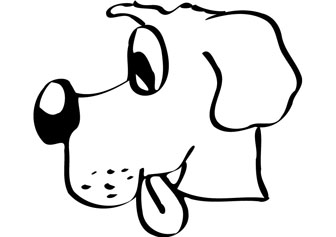 Puppy head kids coloring pages