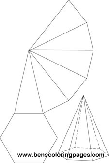 Free Net Of A Hexagonal Pyramid