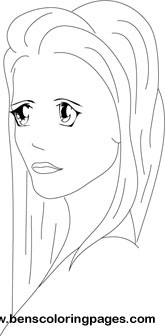 Rapunzel coloring picture