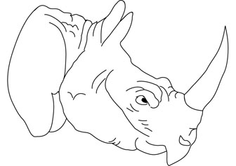 rhino online coloring pages