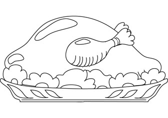 Roast Duck Online Coloring Pages