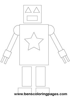 Fun with shapes coloring robot