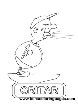 gritar educational flash card