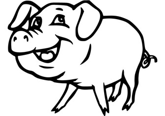 smiling pig coloring pages