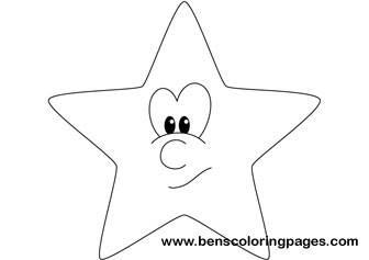 Funny star coloring picture