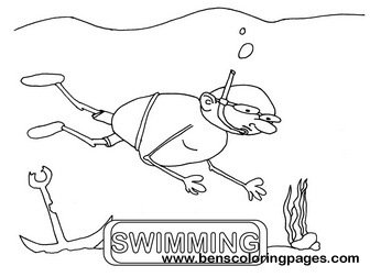 swimming flashcard educational