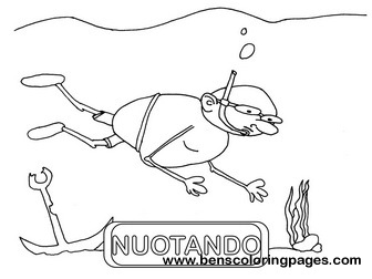 nuotando educational flashcards
