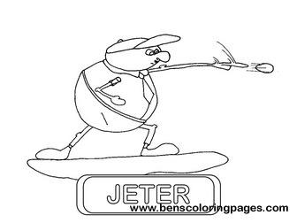 Derek Jeter Coloring Sheets Coloring Pages Derek Jeter Coloring Pages