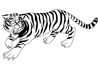 Crouching tiger coloring pic