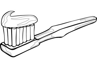Toothbrush cartoon coloring pictures