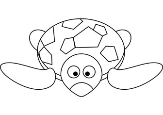 Turtle coloring pages for kids