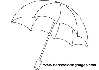 Rainbow Umbrella Coloring Picture