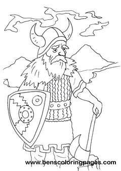 Viking children coloring pages