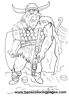 Viking warrior coloring pages for kids