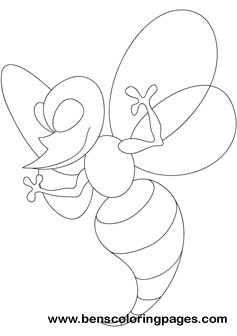 Wicky wasp coloring pictures