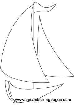 Yacht coloring pictures