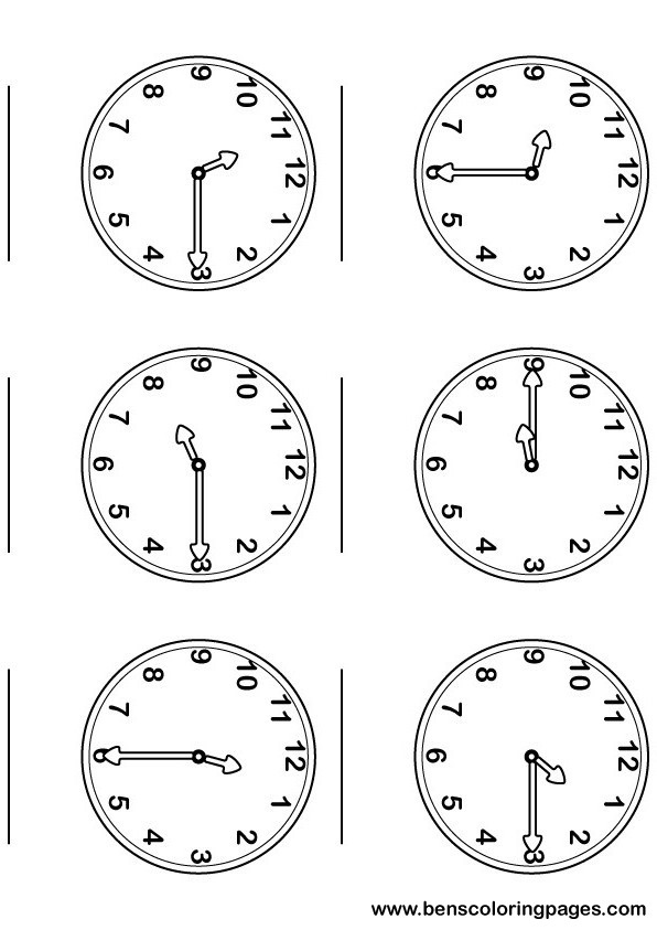 Learning the time with large and numbered clocks