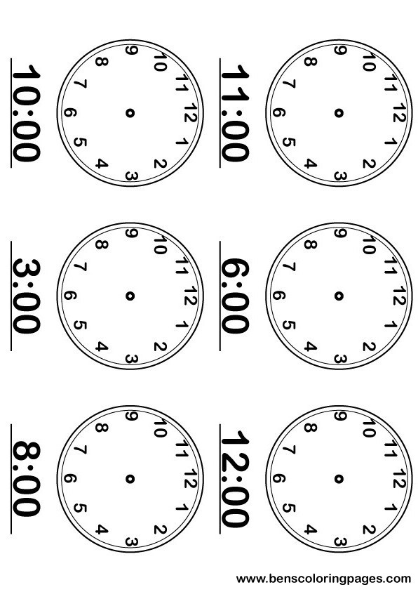 Tell the time printable activity sheet