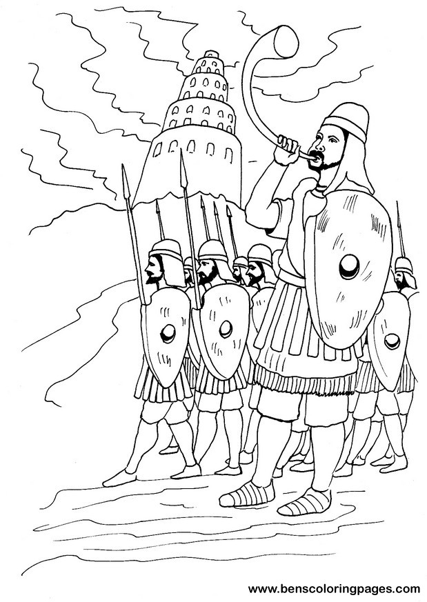 Tower Of Babel Coloring Pages http://www.benscoloringpages.com/coloringpages/towerofbabelarmy.php
