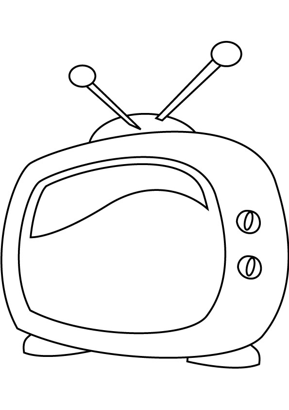 Television coloring pages kids for Tv coloring page